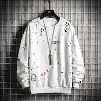 2020 new trend men hoodies casual solid splice pullover o neck slim fit mens sportswear sweatshirt print male hoody tracksuit