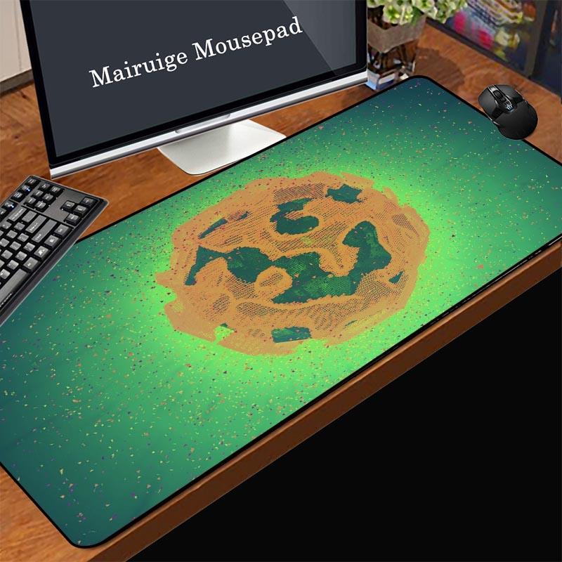 Mairuige дешевые и для долговечной игры Коврик для мыши из натурального каучука в полоску нескользящий зеленый Бразилия Карта земли домашний к...