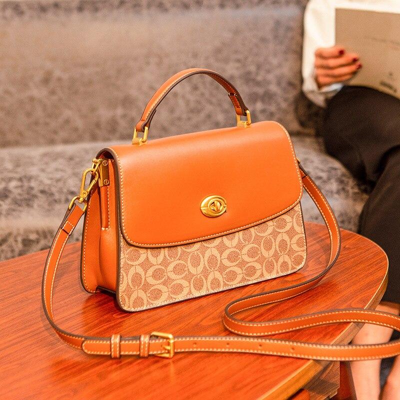 حقائب اليد العلامة التجارية الشهيرة حقائب النساء 2021 مصمم سيدة الكلاسيكية منقوشة الكتف حقائب كروسبودي جلد النساء رسول حقائب اليد