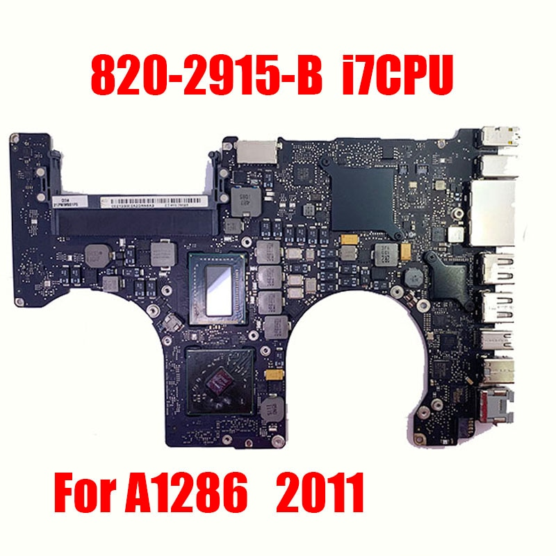 A1286 اللوحة 2011 Pro15 بوصة i7-2760QM 820-2915-B SR02R ل ماك بوك i7-2.4G HD6770M1GB 216-08