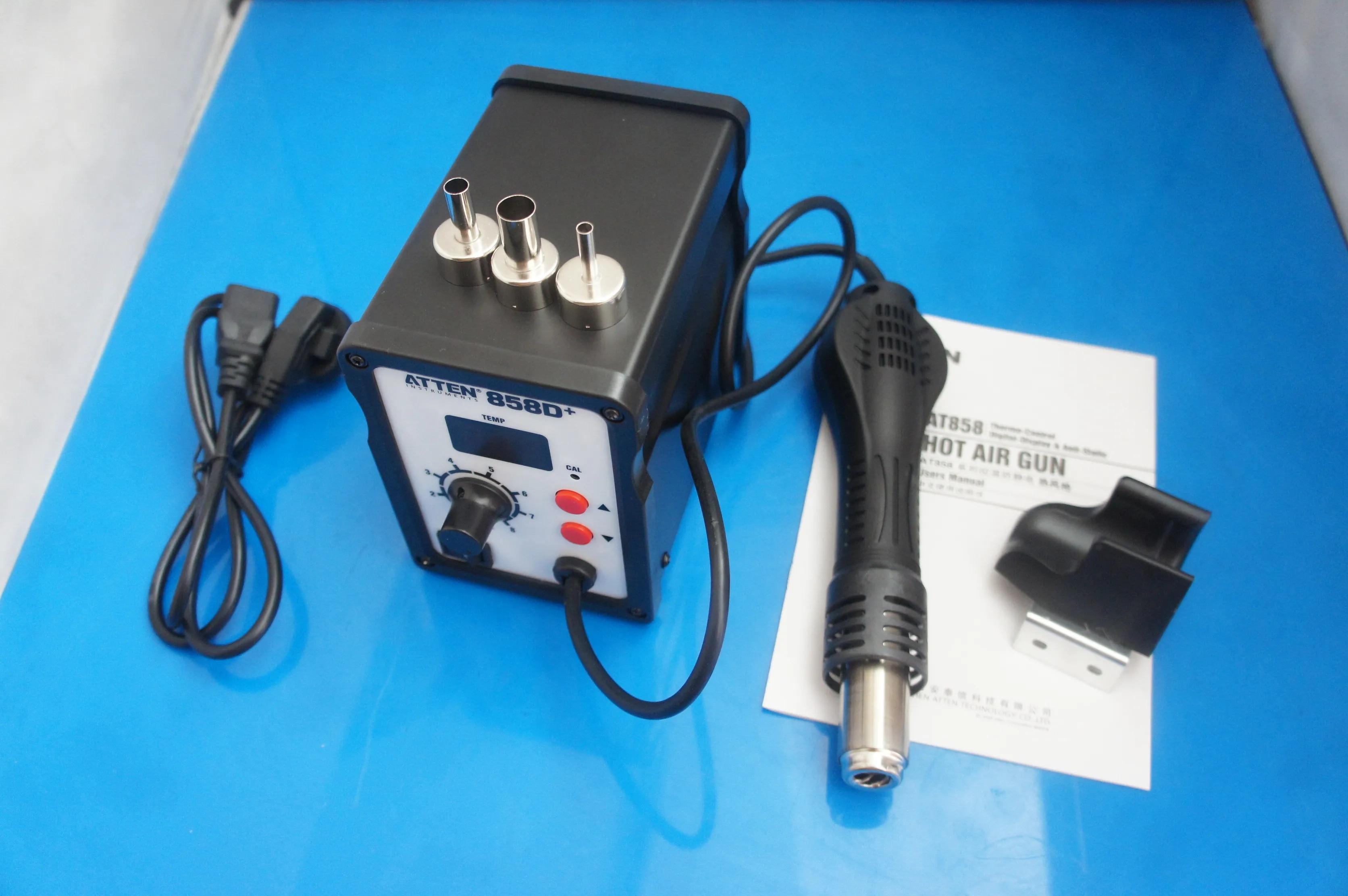858D + SMD קבוע טמפרטורת אוויר חם אקדח מתכוונן טמפרטורת displa הדיגיטלי אוויר חם אקדח עיבוד חוזר תחנת הלחמה 220V