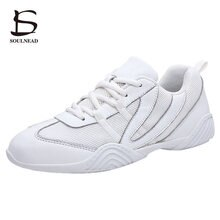 Women's Aerobics Shoes Girl's Sneakers Ladies Fashion Modern Street Dancing Shoes White Female Jazz