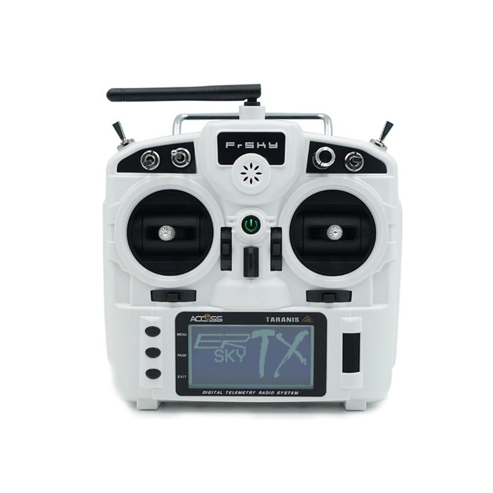 Nova chegada controle remoto Frsky portátil X9 lite 24 simulador de voo do protocolo de ACESSO AO canal do acelerador mão direita branco