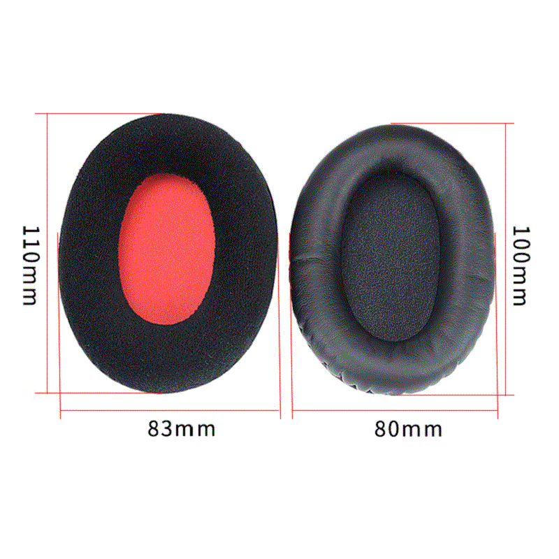 Headphone Replacement Earpads Cushion for KHX-HSCP HyperX Cloud II High Quality Head Beam Leather Flannel Earpads for Cloud II enlarge