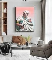 Affiche dart a la mode  peinture  decoration murale  impressions sur toile pour salon  chambre a coucher  sculpture a ondes de vapeur