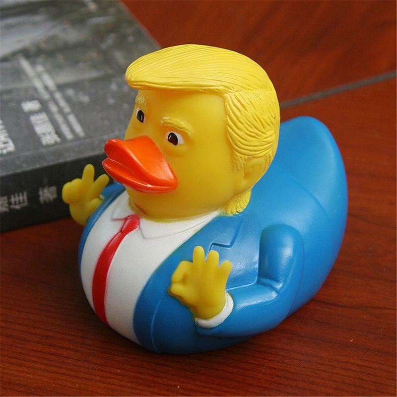 Baby Bath Toys Trump Fun Rubber Duck Children's Bath Floating Yellow Duck Decoration