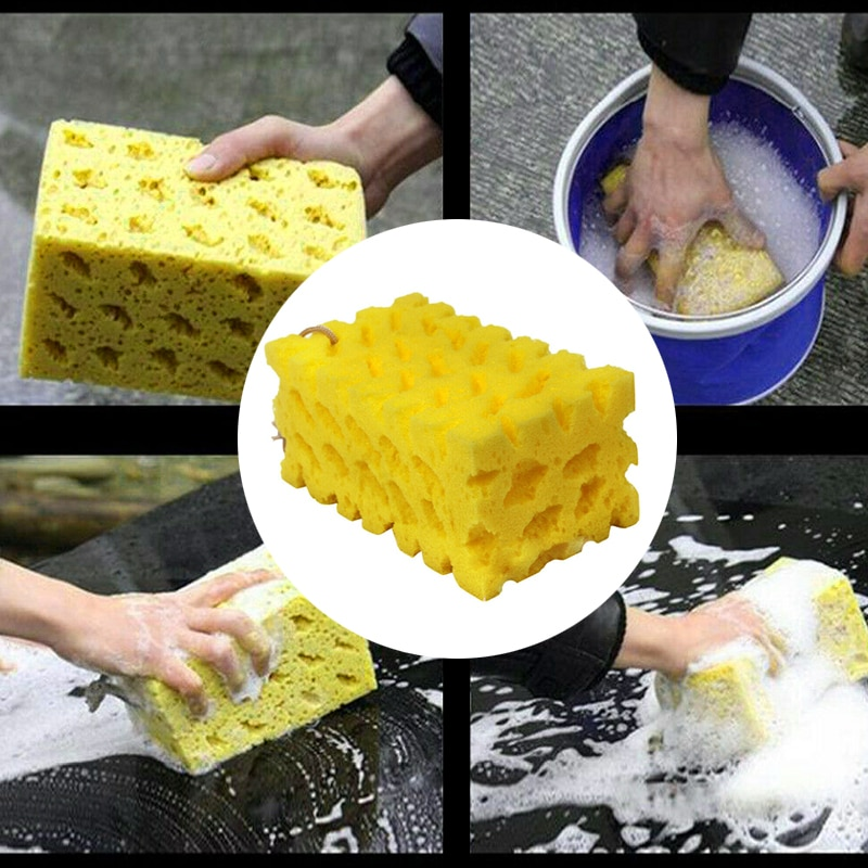 2020 1 Pcs Extra Large Car-Washing Sponge Coral Sponge Washing Cleaning Block Honeycomb For Car Car Wash  Maintenance Tools