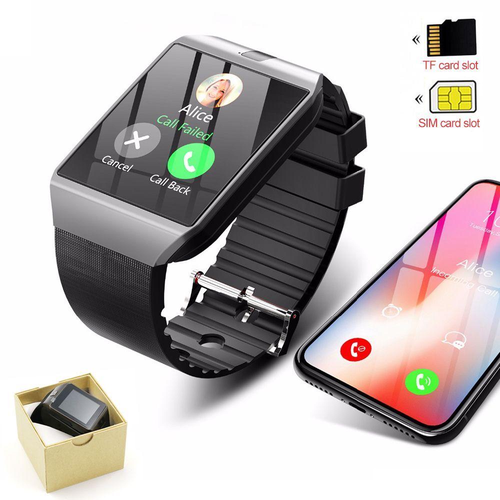 Умные часы DZ09, умные часы с Bluetooth, Цифровые мужские часы для Apple iPhone, Samsung, Android, телефон с SIM-картой и картой памяти, Reloj