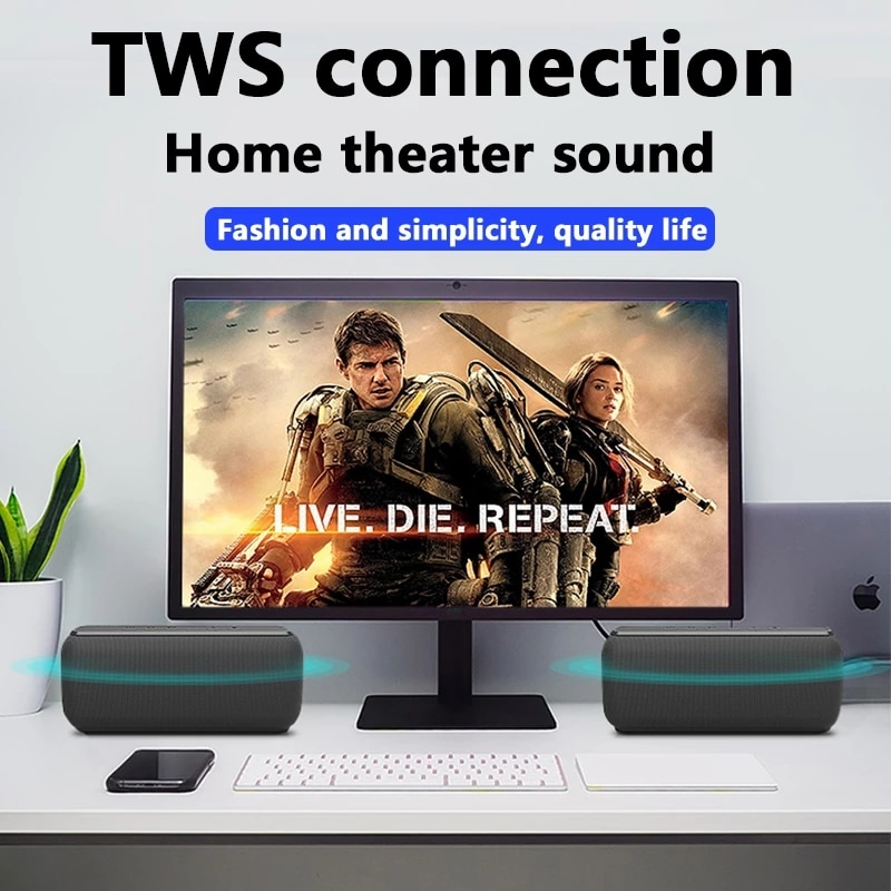 100% X8 Bluetooth Speaker Big Power 60W Wireless Column Waterproof DSP Subwoofer Music Center with Voice Assistant 6600mAh enlarge