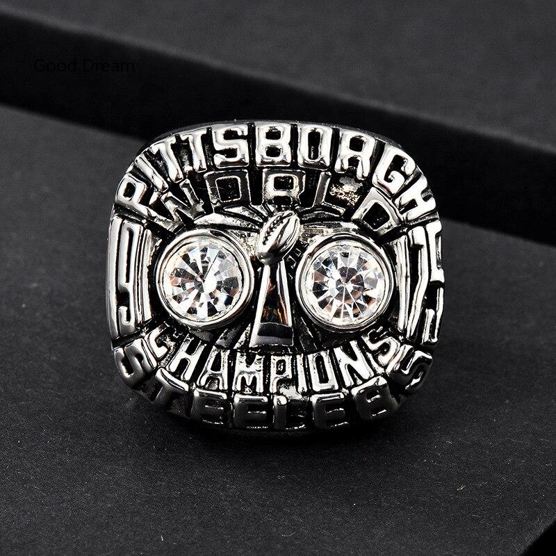 1975th Pittsburgh Steelers Super Bowl Ring World Championship Ring free shipping no minimum order