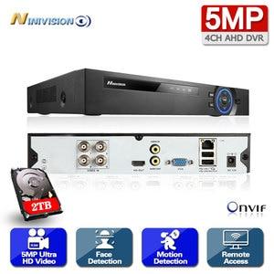 HD H.265 4CH 8CH 1080P 4MP 5MP 6 in 1 AHD DVR Video Recorder for AHD Camera Analog Camera IP camera P2P NVR cctv system DVR