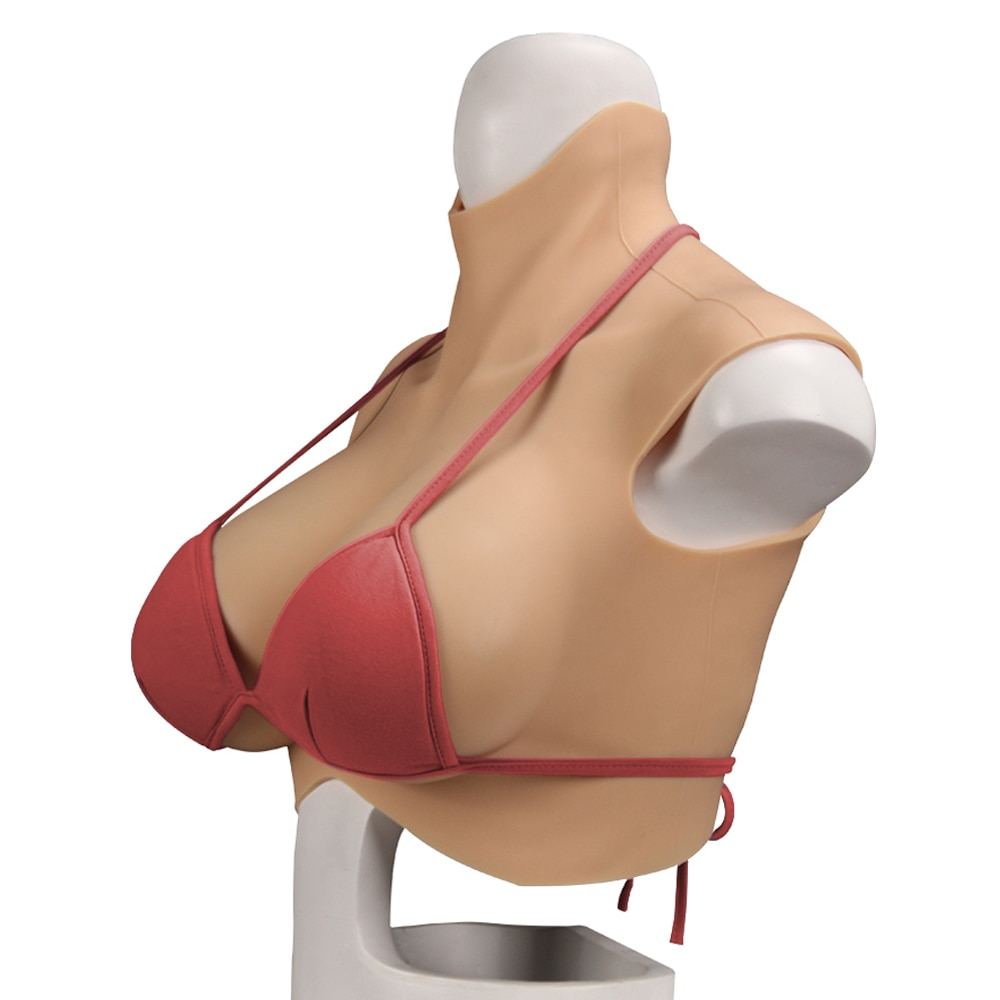 Oversize Crossdresser Realistic Fake Boobs C-H Cup Oil Free Silicone Breast Forms Men's Boys Cosplay Shemale