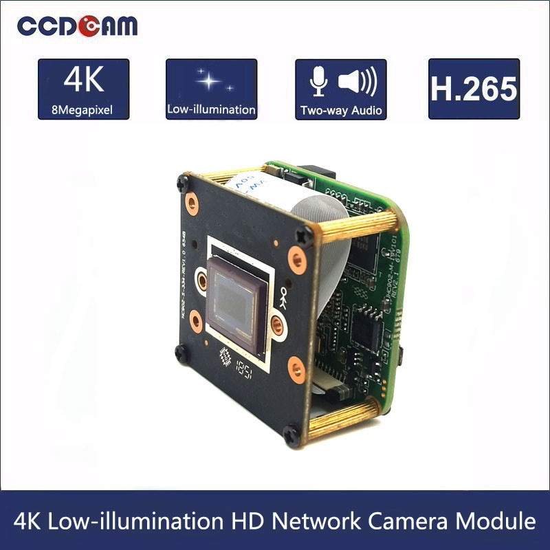 CCDCAM H.265 8MP SONY IMX334 Hisilicon 3516AV200 bajo iluminación de Red HD módulo de cámara