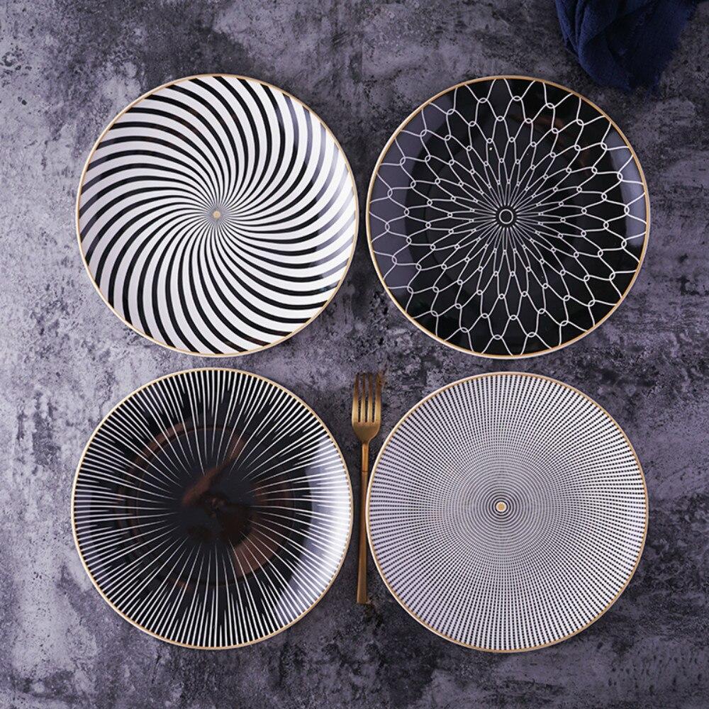 Prato de cerâmica para jantar, louças de cerâmica para bolo, 8 ou 10, Polegada