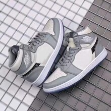 2021 New Brand Authentic OG Grey And White 1:1 Men's High Top Basketball Shoes Outdoor High Quality