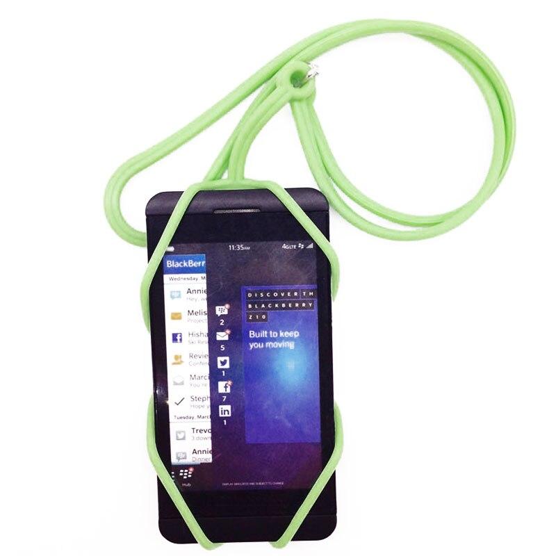 Universal silicone alça do telefone móvel titular caso do telefone pescoço cinta colar sling para smartphone alça do telefone móvel portátil 1pc