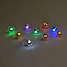 1 pièces mode LED boucles doreilles 3 couleurs femelle Fun circulaire motif boucles doreilles femmes mode bijoux Style goujon