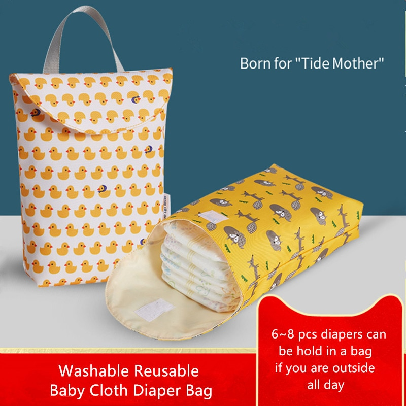 Baby Waterproof Diaper Pouch Nappy Wet Bag Diapers Cloth Sachets Reusable Bags Diaper Washable Kids Organizer Wetbag Hot Sale