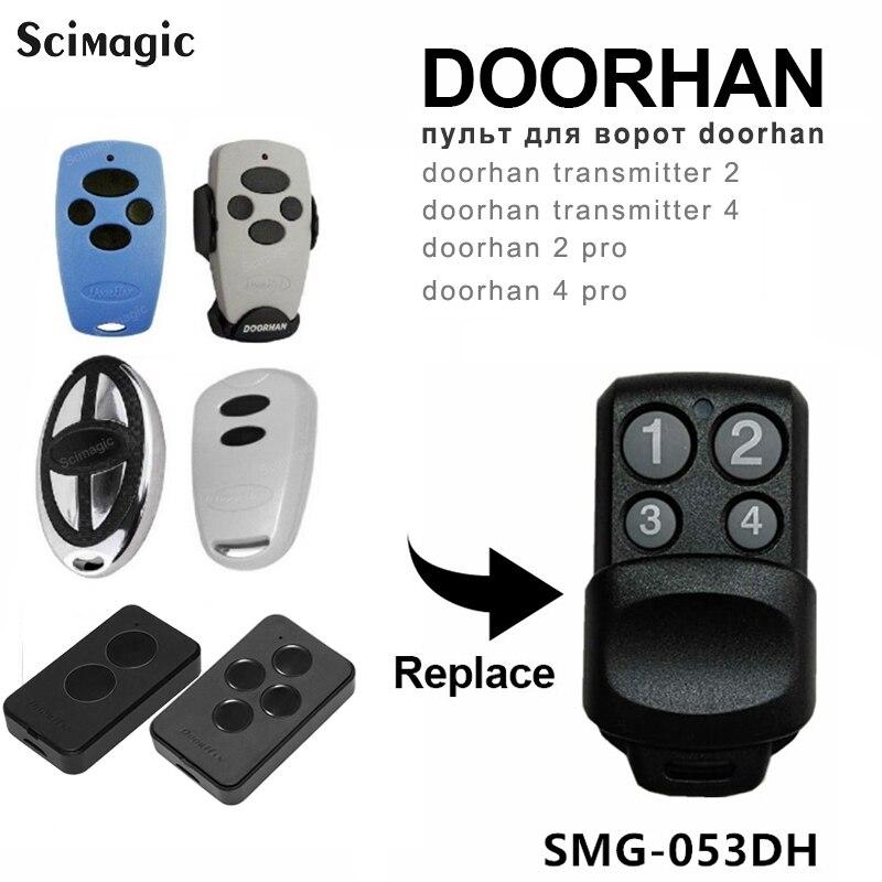 Doorhan remoto 433.92mhz transmissor 2 4 pro doorhan controle de porta rolamento código controle remoto 4ch chave para barreira
