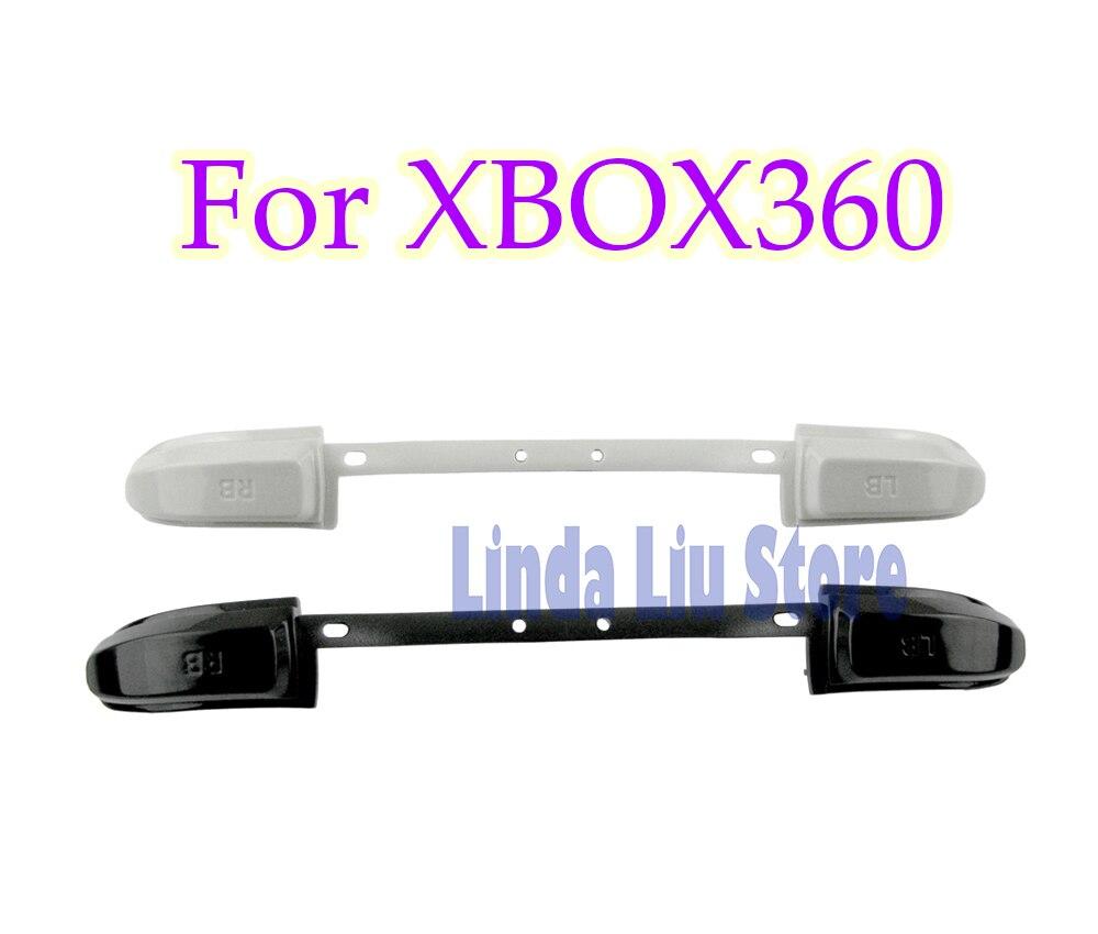 ChengChengDianWan 100 قطعة/الوحدة الأبيض الأسود أطقم زر LB RB الوفير ل XBOX360 تحكم LB RB أزرار كاب قطاع
