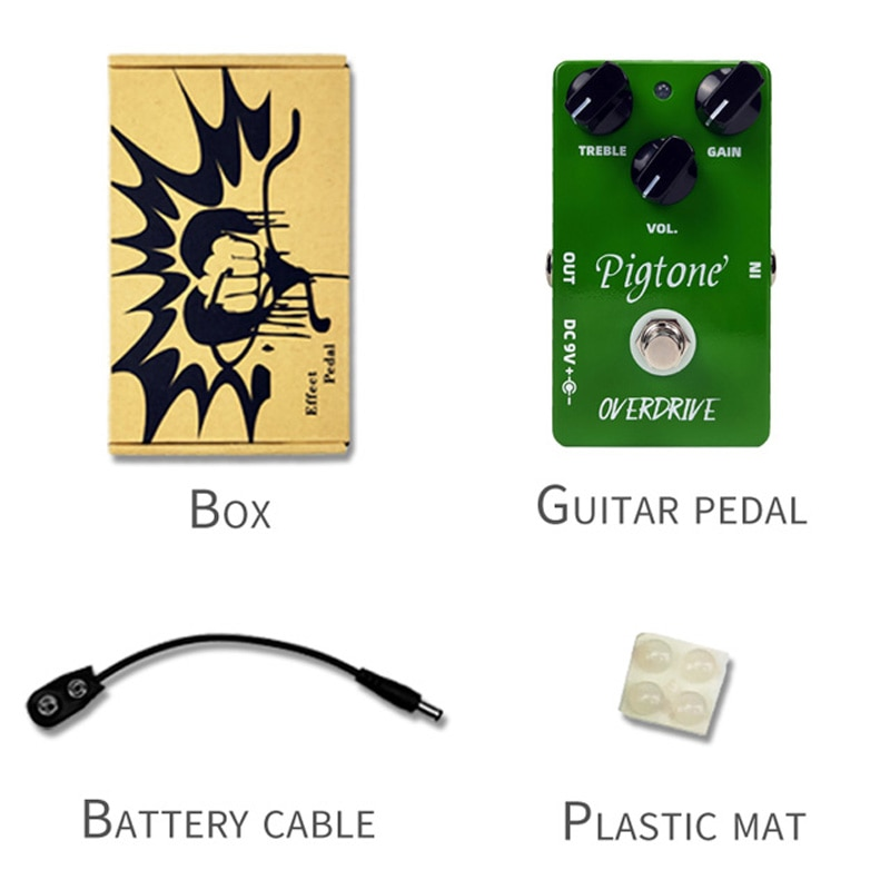 Pigtone PP-01 Overdrive Guitar Pedal Acoustic Electric Guitar Accessories Parts Effects Pedals Real bypass enlarge
