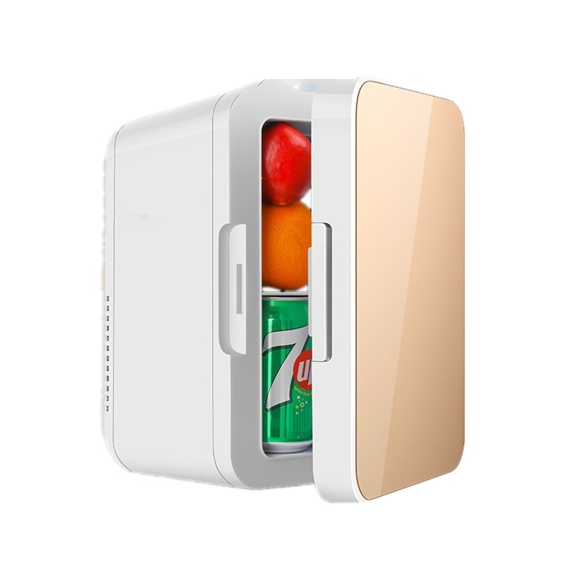 6l refrigerator freezer heater 12v mini car fridge cooler 8L Mini Car Home Fridge Travel Refrigerator Portable 12V AC/DC Powered Cool Heat Cooler and Warmer Home 220V Freezer Car