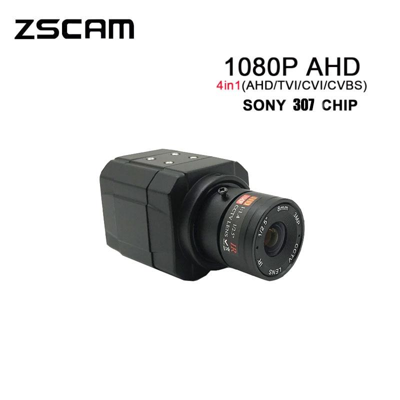 Новинка 2 МП SONY307 чип AHD/TVI/CVI/CVBS 4 в 1 цветная видео OSD камера 1080P Мини-бокс видеонаблюдения Супер звезсветильник 0,0001 люкс клавиатура Меню Камера