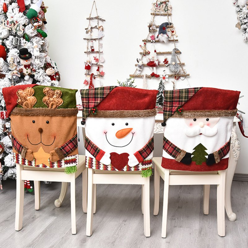 Christmas Decorations, Home Furnishings, Santa Claus Cartoon Chair Covers, Stool Covers, Elk Models