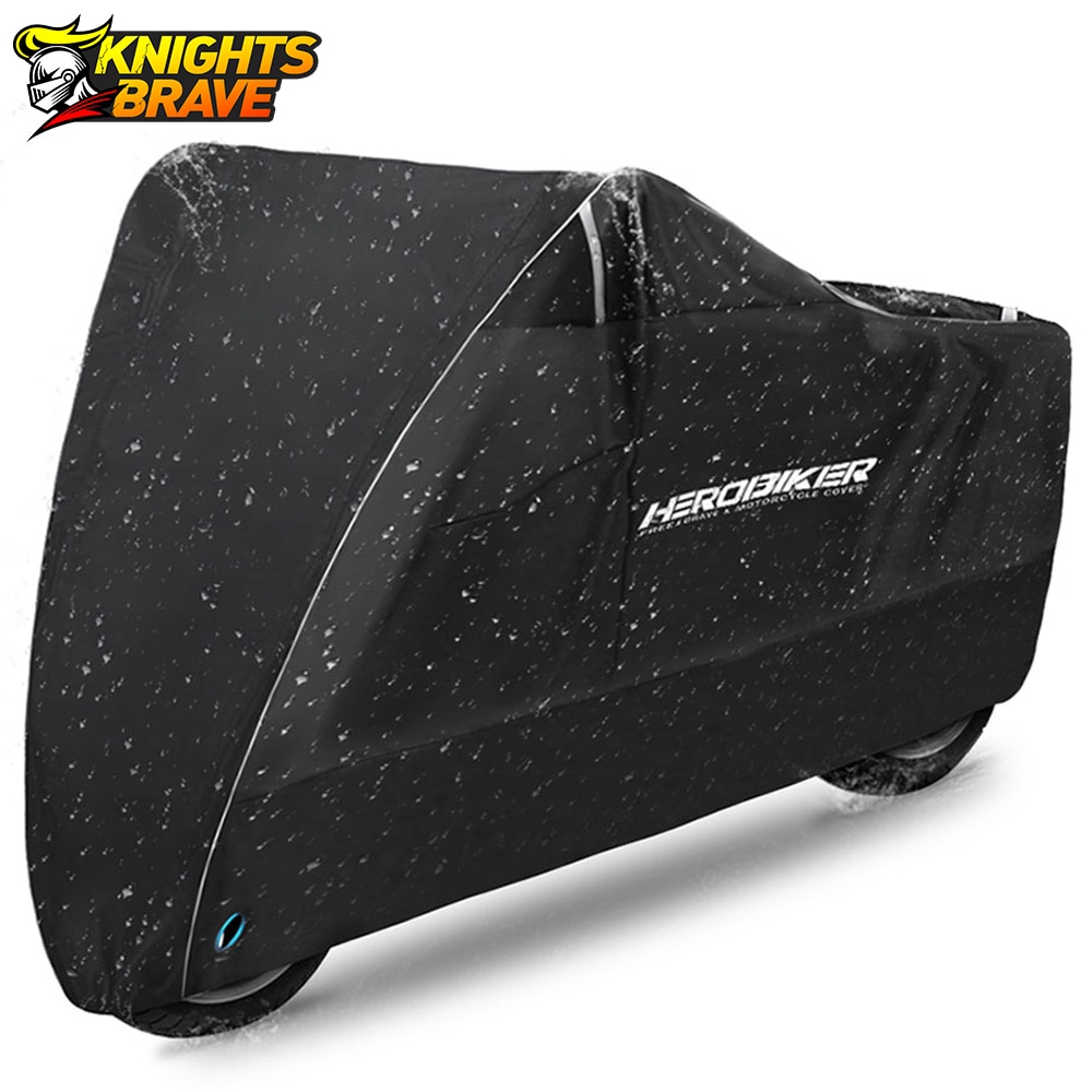 HEROBIKER Motorcycle Cover Outdoor Uv Protector Scooter Cover Bike Waterproof Dustproof Moto Rain Cover Indoor Lock-holes Design