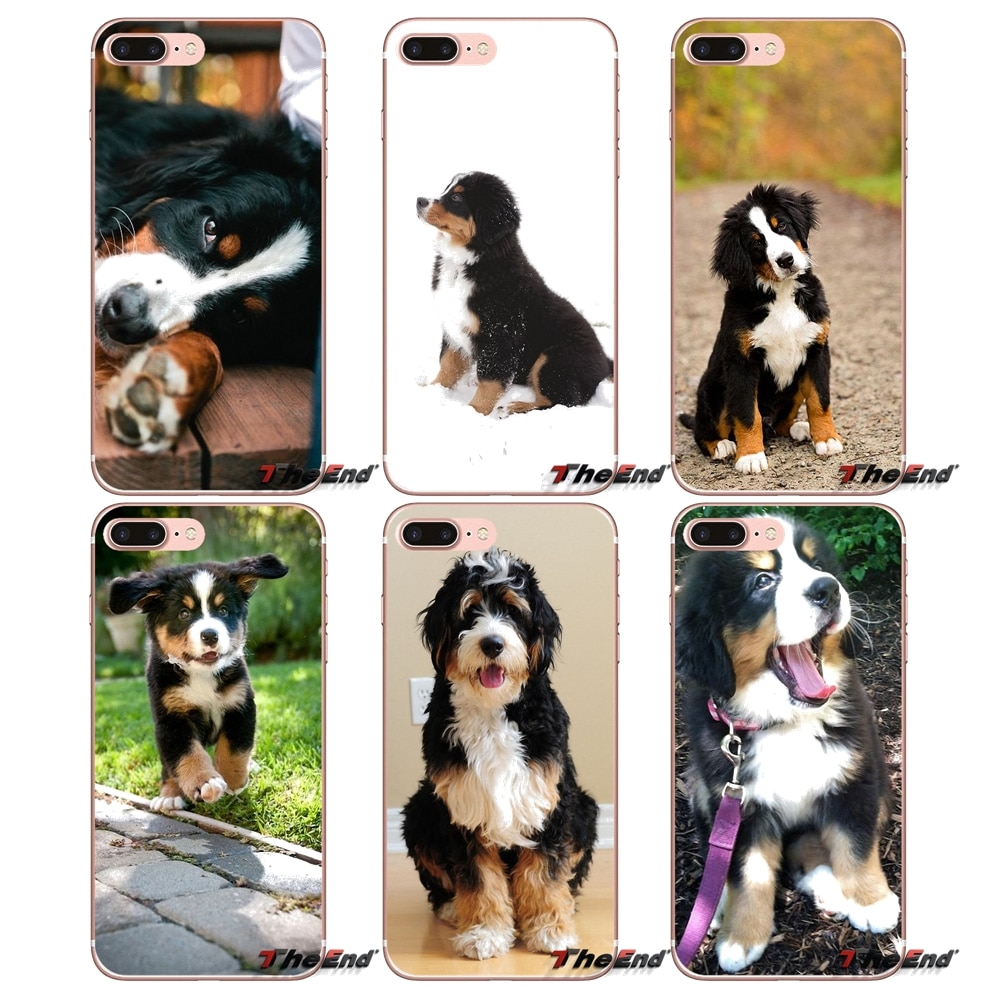 Para iPhone 4X4 4S 5 5S 5C SE 6 6 S 7 8 Plus, Samsung Galaxy J1 J3 J5 j7 A3 A5 2016 2017 Berner Sennen perro Bernese montaña caso