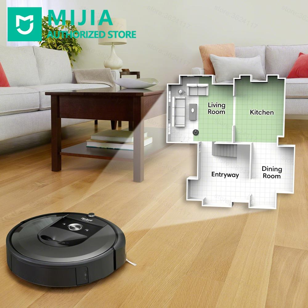 Promo Xiaomi Smart Robot Vacuum Cleaner irobot Roomba i7+ Sweeping Machine Smart Remote Control With Base Collect Trash For Duplex