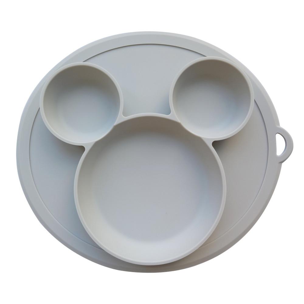 Children's Silicone Sucker Bowl  Baby Plate Feeding Dish BPA Free