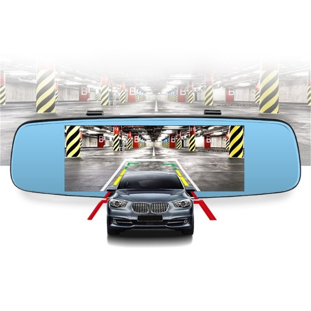 "4G ADAS coche DVR cámara de vídeo espejo 7,86 ""Android 5,1 con dos cámaras Dash Cam Registrar caja negra 16GB"
