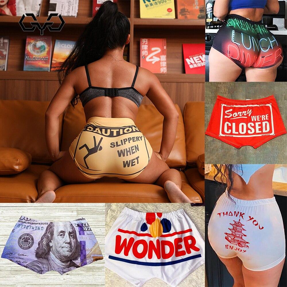 QYQ 2020 Frauen Candy Farbe Shorts Booty Bar Mini Sexy Shorts Club Party Fitness Bodycon Dünne Vorsicht Rutschig, Wenn Nass snack