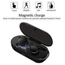 TWS sport sans fil Bluetooth écouteurs 5.0 dans loreille réel sans fil écouteurs casque stéréo basse sport en cours dexécution pour iPhone Android