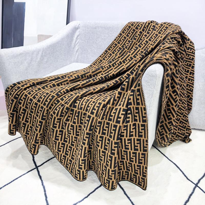 كروكر الحصان حقيقية براون اللون دثار محبوك نسيج ل Nap التلفزيون غرفة غطاء أريكة الشتاء الزخرفية مكافحة الباردة الدافئة بطانية