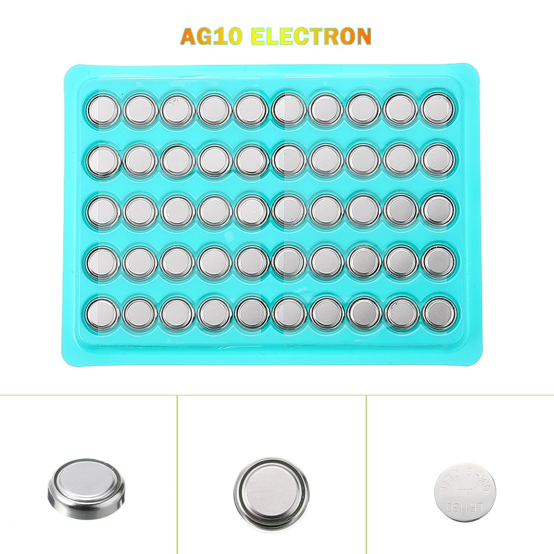 50pcs Watch Coin Batteries 1.5V Alkaline Button Cell Battery AG10 L1131 SR1130 189 LR54 For Small El