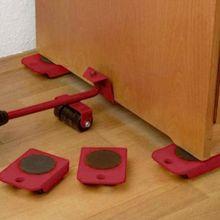 4 قطعة تتحرك الأثاث أداة النقل شيفتر تتحرك عجلة المنزلق مزيل الأسطوانة الثقيلة (لا رافعة)