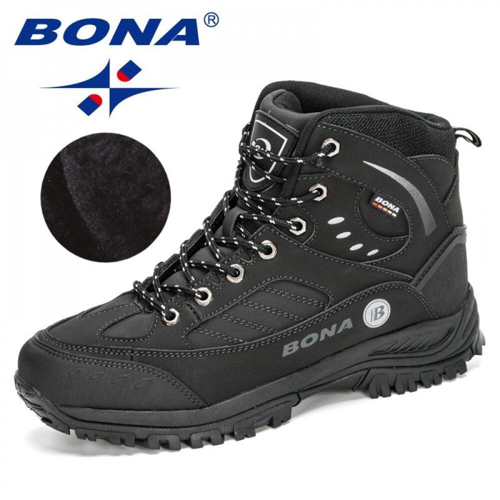 BONA 2020 новые дизайнерские Нубуковые походные ботинки для альпинизма мужские высококачественные спортивные треккинговые плюшевые теплые му...