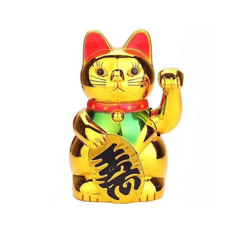 Lucky Chinese Reichtum Katze Hand Winken Gold Katze Neko Maneki Hause Nette Fengshui