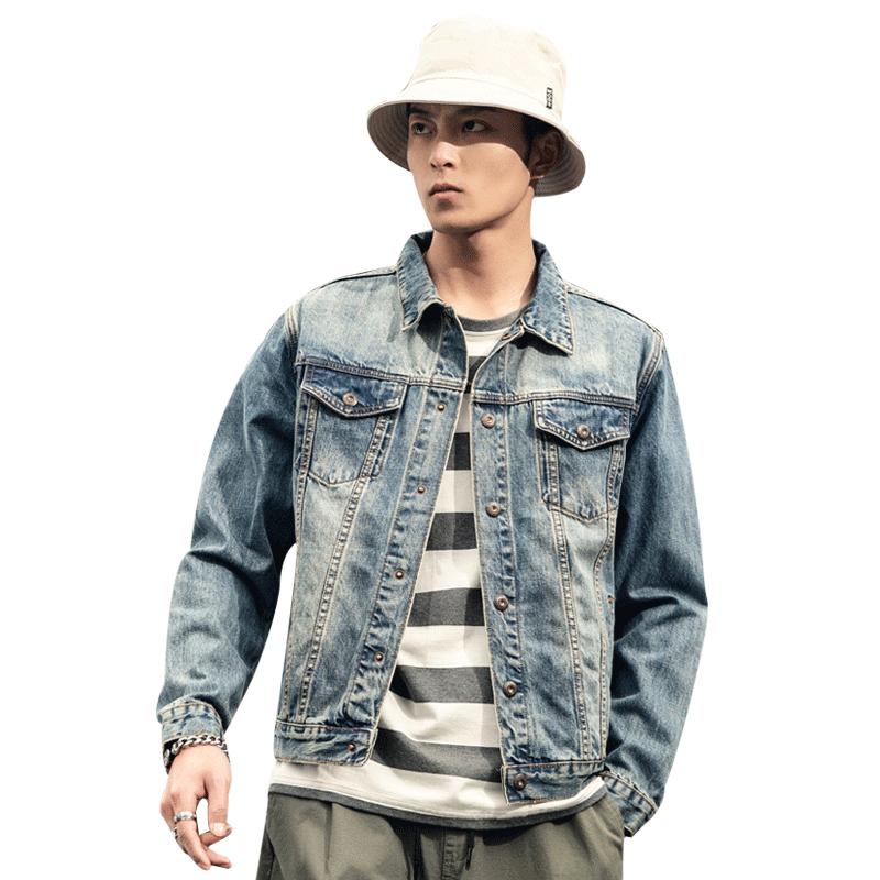 Фото - Джинсовая куртка высокого качества, мужская хлопковая одежда, брендовая повседневная мужская джинсовая куртка, верхняя одежда, приталенна... scout джинсовая верхняя одежда