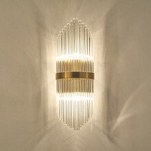 Cristal LED moderne applique Europe Restaurant hôtel Villa couloir escaliers verre tige applique