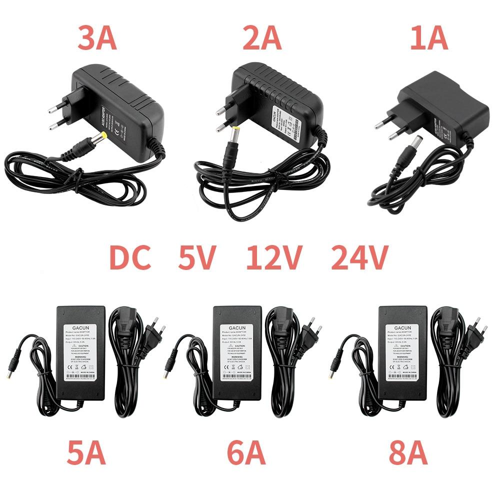 12 В источник питания 5 в 24 В 1A 2A 3A 5A 6A 8A DC 5 12 24 В вольт трансформаторы 220 В до 12 В 5 в 24 в источник питания светодиодный драйвер полосы лампы
