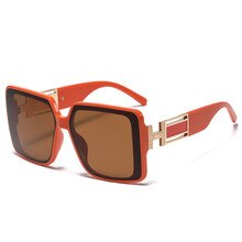 2021 New Fashion Square Shield Sunglasses Luxury Brand Designer Vintage Sun Glasses Women Men Gradie