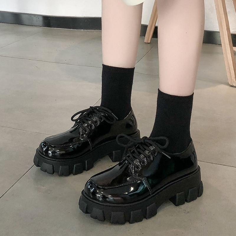 BJYL Women Chunky Sneakers Hidden Heels Height Increasing Ladies Wedge Shoes High Top Autumn Platform Women Shoes B492