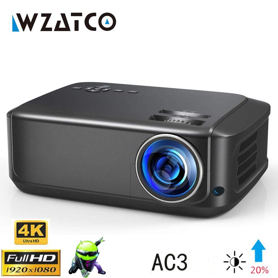 WZATCO-Proyector LED portátil para cine en casa modelo T59, dispositivo de proyección...