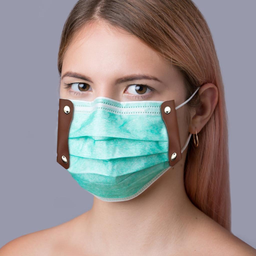 Фиксированные зажимы для масок с эластичными лентами прочный многоразовый кожаный зажим для масок для лица Крышка маска для рта держатель с креплением аксессуары