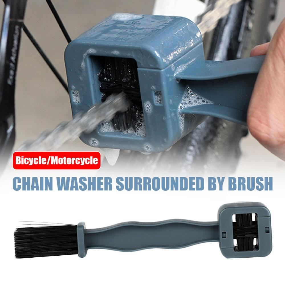 AliExpress - Bicycle Chain Brush on all Sides Surrounded By Brush Cleaning Brush Mountain Bike Motorcycle Decontamination Bike Accessories
