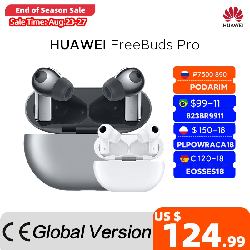 Global Version HUAWEI Freebuds Pro Smartearphone Qi Wireless Charge ANC Function For Mate 40 Pro P30 Pro CODE:EOSSAFF13 110-13$