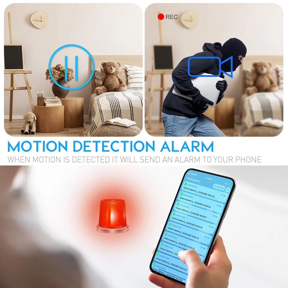 Wifi Camera Micro Camera 166degree 4K HD Baby Cam Night Vision Motion Detect Camcorder Surveillance Covert Security Micro Kamera enlarge